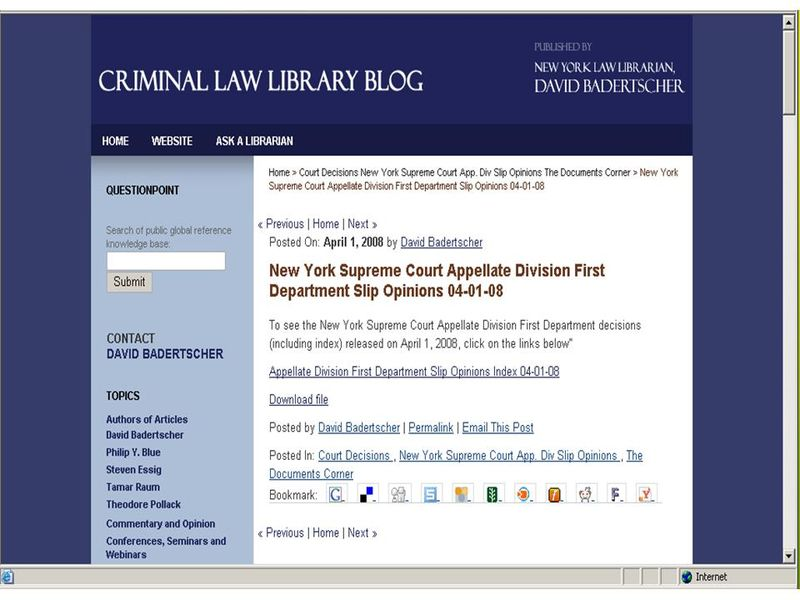 Criminal Law Library